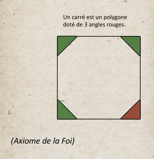 Un carré est un polygone doté de 3 angles rouges